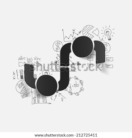 Drawing business formulas: handshake - stock photo