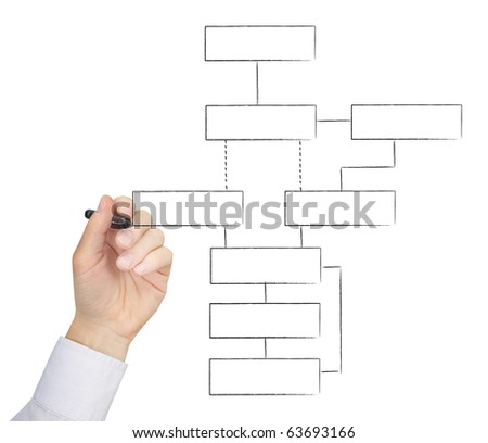 Drawing chart - stock photo