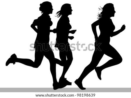 drawing competition run among women - stock photo