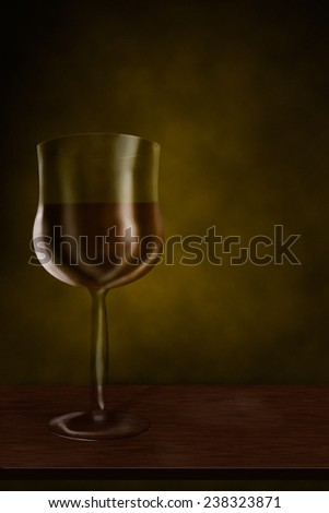 Drawing glass of wine