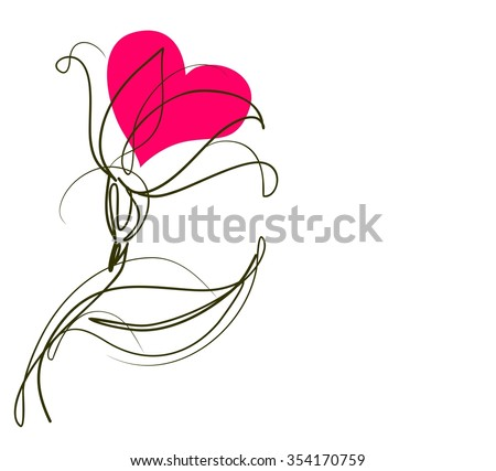 Drawing   graphics with floral pattern for design. Floral flower natural design. Graphic, sketch drawing. lily, tulip.