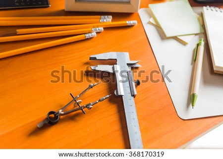 Drawing instruments - stock photo