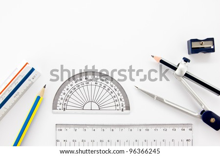 Drawing Geometric Instruments Stock Images Royalty Free