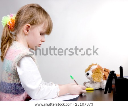 drawing little girl