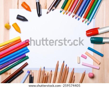 drawing materials - stock photo