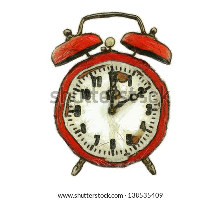 drawing of the alarm clock