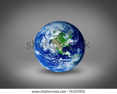 Drawing of the earth with an ecological concept over gray background - stock photo