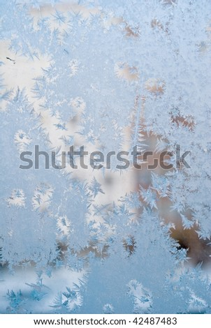 drawing of the frost on window