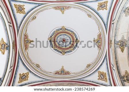 Drawing over roof of a Mosque in Turkey
