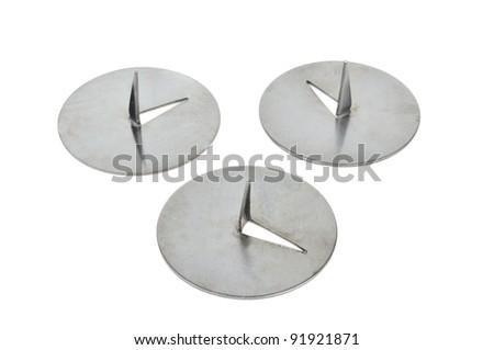 Drawing Pins (Thumbtacks) Isolated on White Background - stock photo