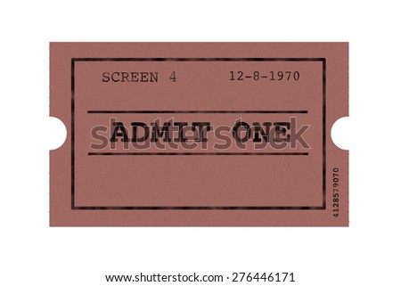 Drawing ticket cinema - stock photo