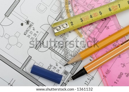 drawing tools on a floorplan