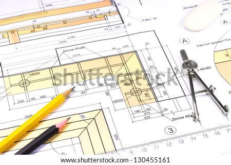 Drawing tools on construction plan
