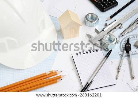 Drawing Tools Project Concept Home Building