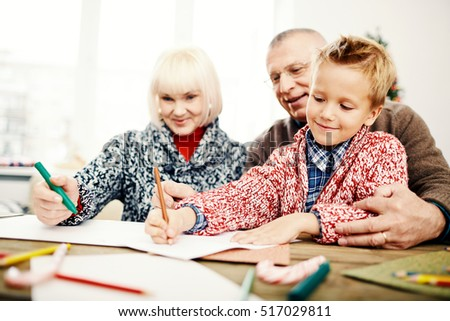 Drawing with grandparents