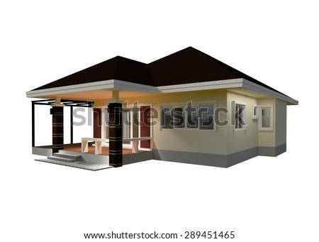 Drawings Design House 3D Render