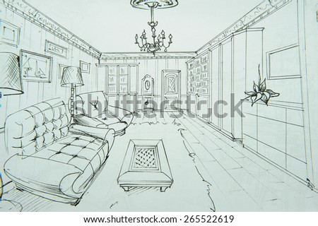 Drawings Of Interiors Sketches Pencil
