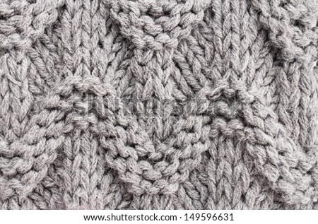 Dray  knitting background texture. Knit woolen Fabric textile multicolor back. - stock photo
