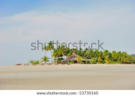 dream beach - stock photo