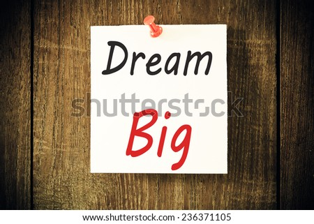 Dream big  - stock photo