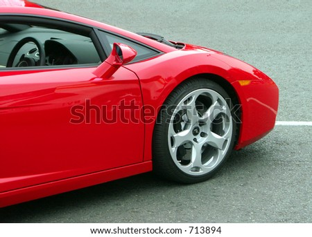 Dream car parked in the road. - stock photo