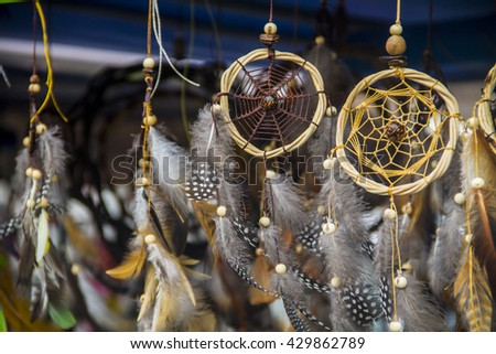 Dream catcher on flee market