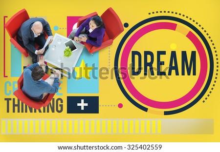 Dream Goal Target Aspiration Imagination Inspiration Concept - stock photo