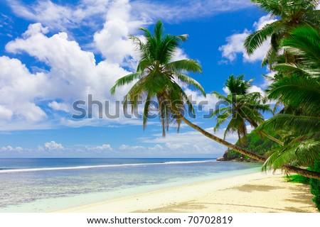 Dream Seascape Coast - stock photo