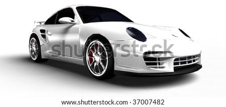 Dream sports car - stock photo
