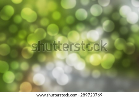 Dreaming Green Cool Feeling Natural Bokeh Blurred Background Texture - stock photo