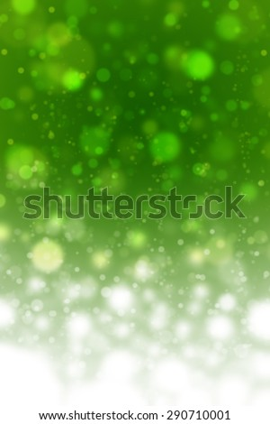 Dreaming Green Tone Snowflake Cool Feeling Natural Bokeh Blurred Background Texture