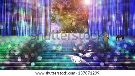 Dreamlike vision - stock photo