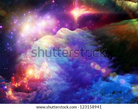 Dreamscape Series. Design composed of colorful fractal paint and lights as a metaphor on the subject of art, abstraction and creativity - stock photo