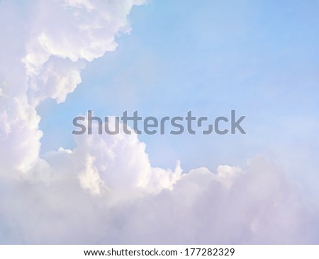 Dreamy Clouds Background - stock photo