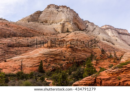 Dreamy landscape in Zion National Park, Utah - stock photo