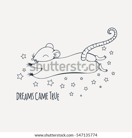 dreamy rat coloring page raster image stock illustration 547135774