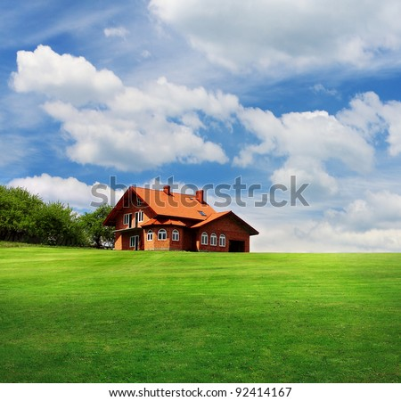 Dreamy rural house - stock photo