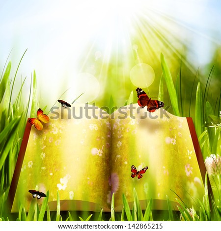 Dreamy world, abstract environmental backgrounds - stock photo