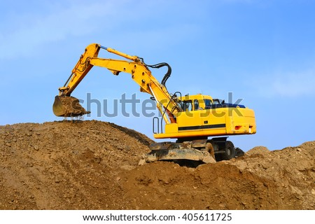 Dredge on a building site - stock photo