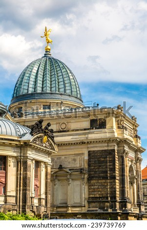 Dresden Academy of Fine Arts  in a beautiful summer day, Germany - stock photo