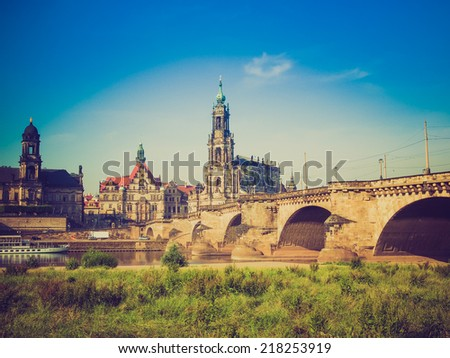 Dresden Cathedral of the Holy Trinity aka Hofkirche Kathedrale Sanctissimae Trinitatis in Dresden Germany