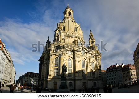 Dresden Frauenkirche (Church of Our Lady), Germany - stock photo