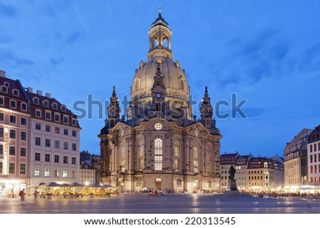 Dresden - Germany - Dawn - stock photo