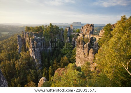 Dresden - Germany - Elbsandsteingebirge - stock photo
