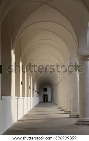 DRESDEN, GERMANY -  NOVEMBER 12, 2014: Stallhof in Dresden,Germany (Dresdner Residenzschloss,Dresdner Schloss). - stock photo