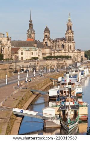 Dresden - Germany - Pier - stock photo
