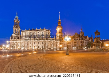 Dresden - Germany - Residenzschloss - stock photo