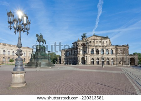 Dresden - Germany - Semper opera at daylight - stock photo