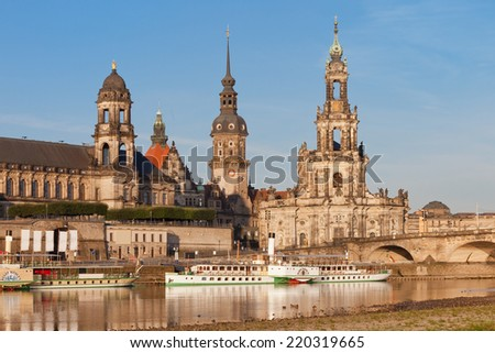 Dresden - Germany - Steamboat - stock photo