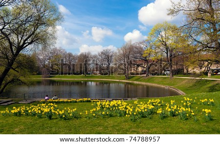Dresden in spring time. Germany - stock photo